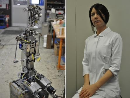 The android robot Geminoid F by Hiroshi Ishiguro of Osaka University and ATR in 2010. #2010 IEEE