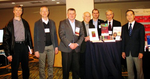 Presentation of CHIPS 2020 at the  2012 International Solid-State Circuits Conference (ISSCC), San Francisco, CA. From left to right: Barry Pangrle, Albrecht Rothermel, Boris Murmann, Yiannos Manoli,  Matthias Keller, Bernd Hoefflinger, Burn Lin.